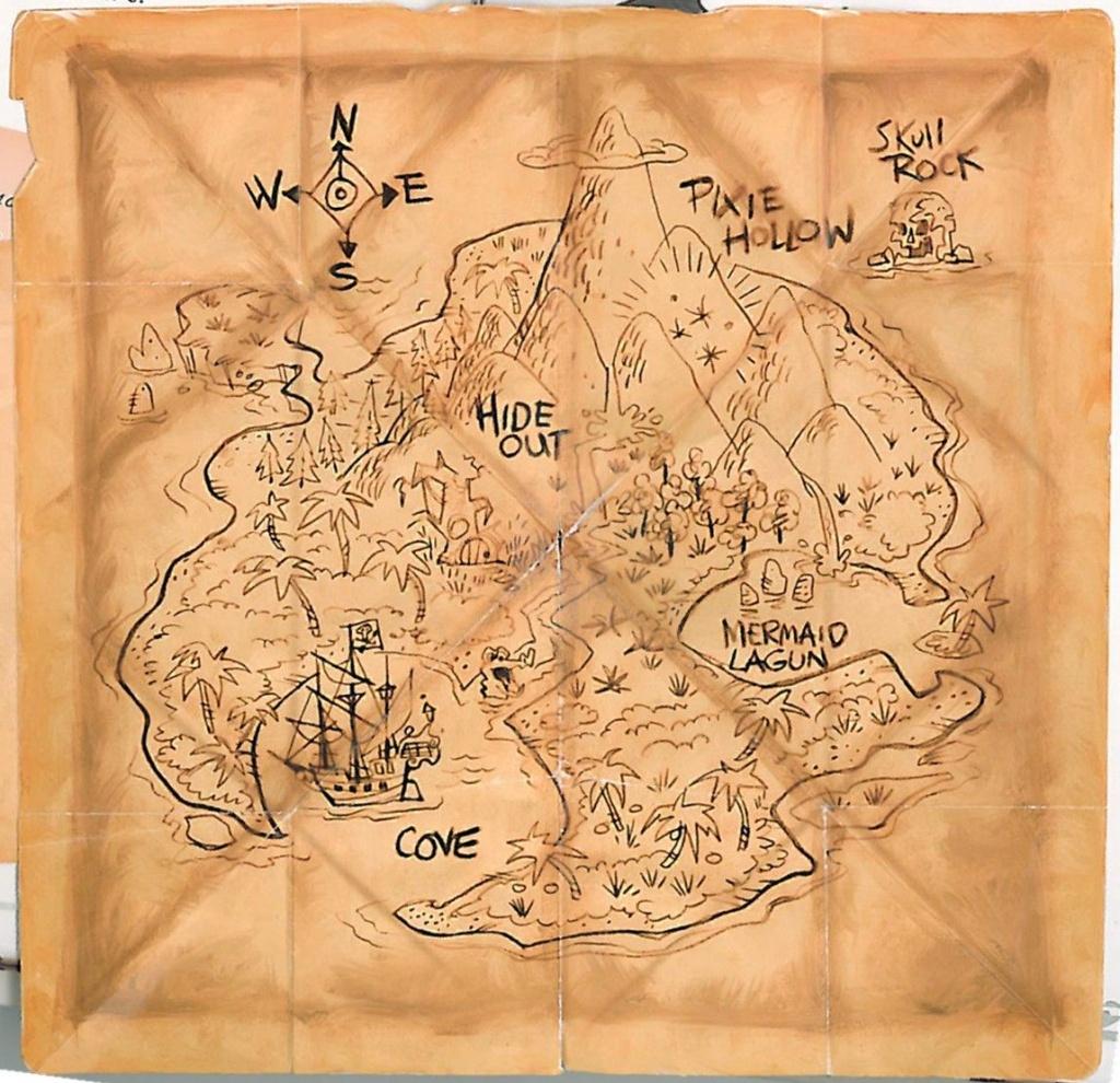 Neverland Map - Google Search | Treasure Map | Projets À Essayer - Neverland Map Printable
