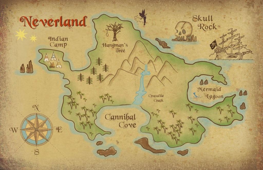 Neverland Map Printable | Freebie! Neverland Map Download | Kids - Neverland Map Printable