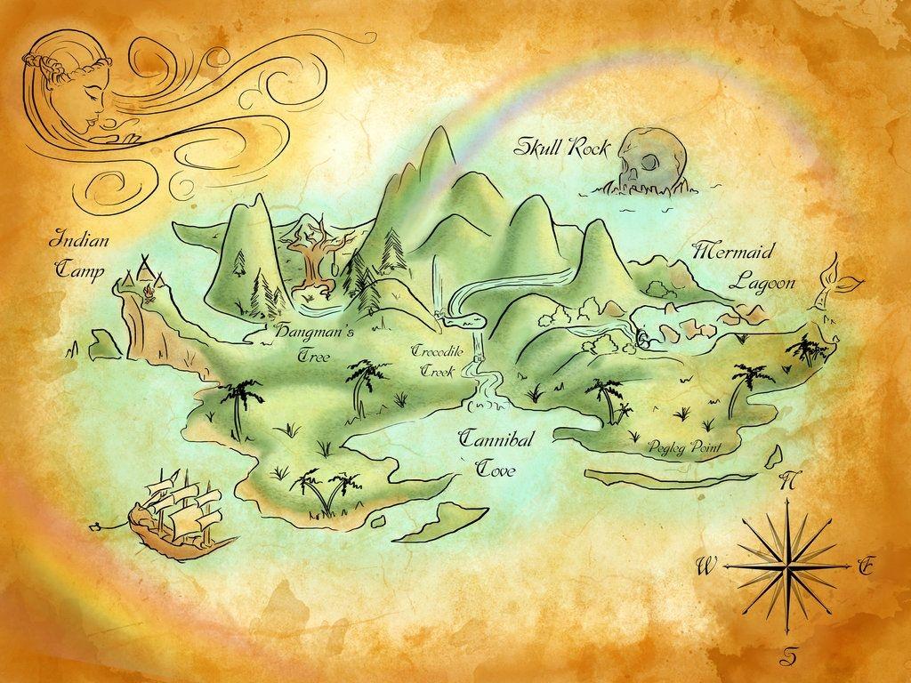Neverland Mapmercedesjk.deviantart On @deviantart | Birthday - Neverland Map Printable