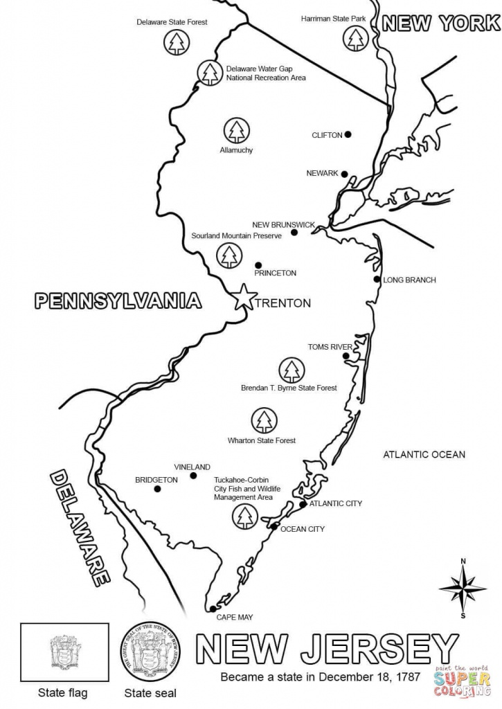 New Jersey Map Coloring Page | Free Printable Coloring Pages - Printable Map Of New Jersey