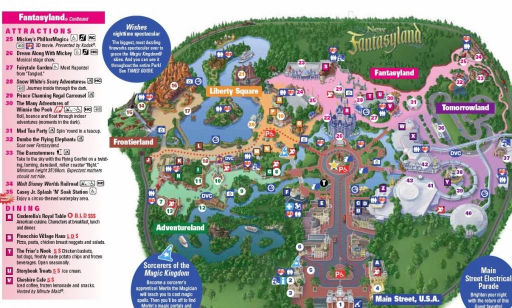 New Magic Kingdom Map Including Storybook Circus Photo Of For Disney - Map Of Magic Kingdom Orlando Florida