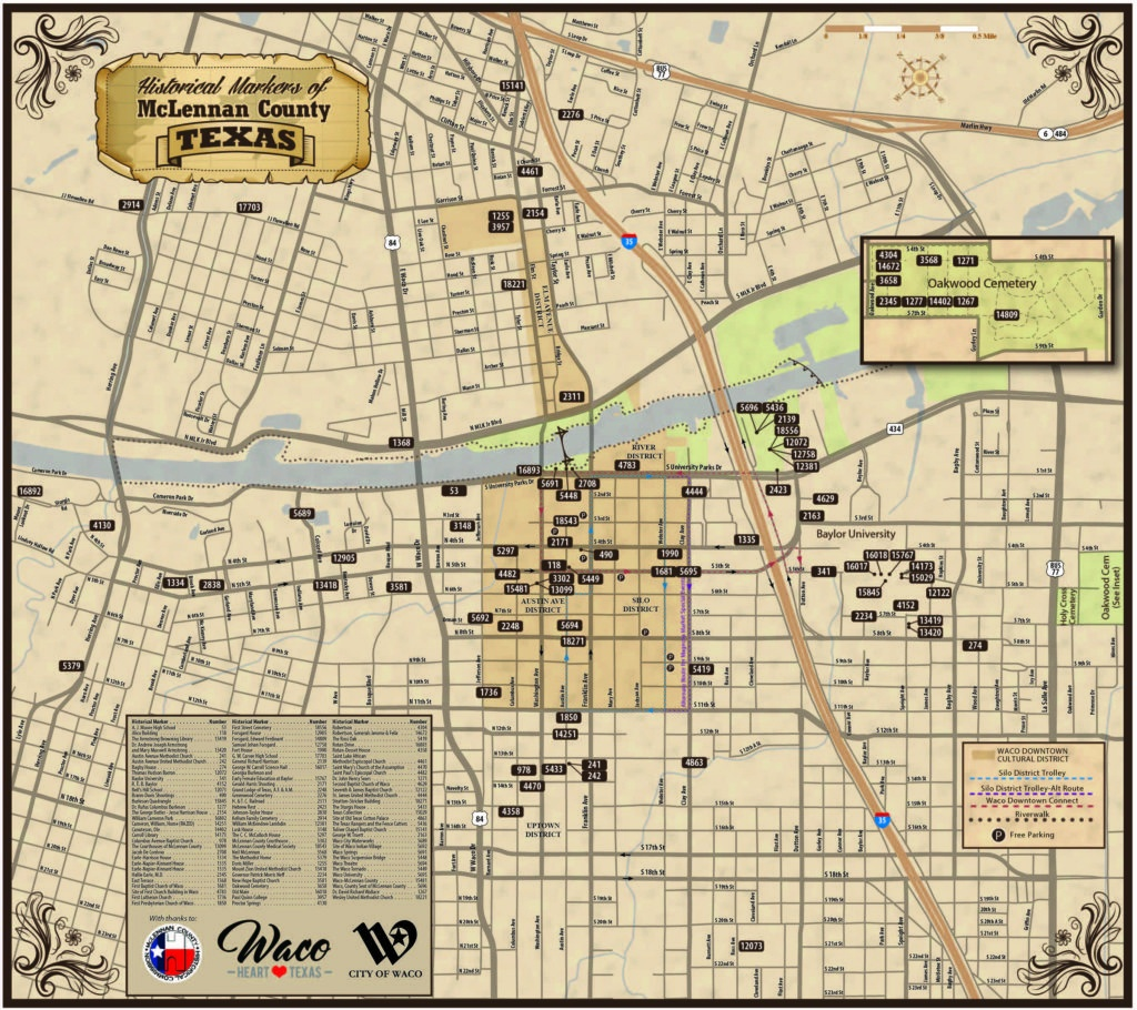 New Map Available – Historical Markers Of Mclennan County – Waco - Google Maps Waco Texas
