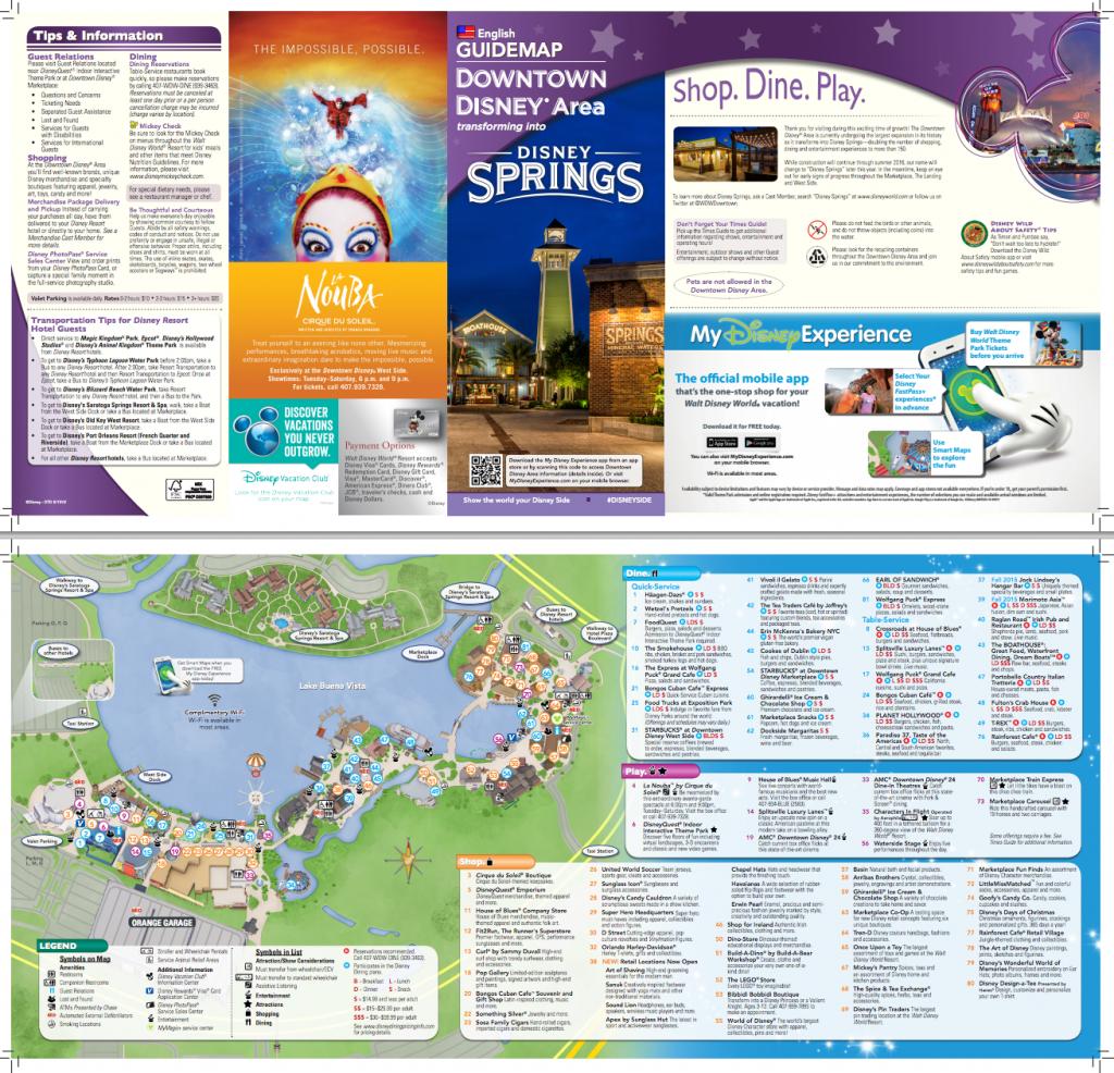 New Map For Downtown Disney/disney Springs (Pdf) | Disney Springs - Disney Springs Map Printable