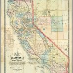New Map Of The State Of California And Nevada Territory. / Ransom   California Territory Map