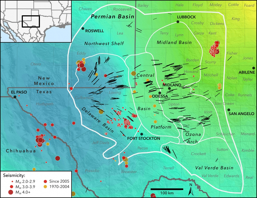New Map Profiles Induced Earthquake Risk   Stanford News - Texas Wind Direction Map