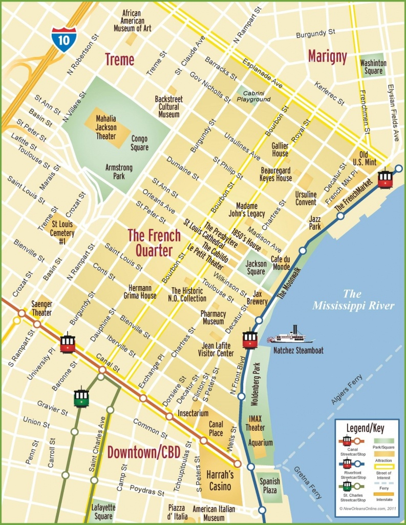 New Orleans French Quarter Map | New Orleans In 2019 | New Orleans - Printable Walking Map Of New Orleans