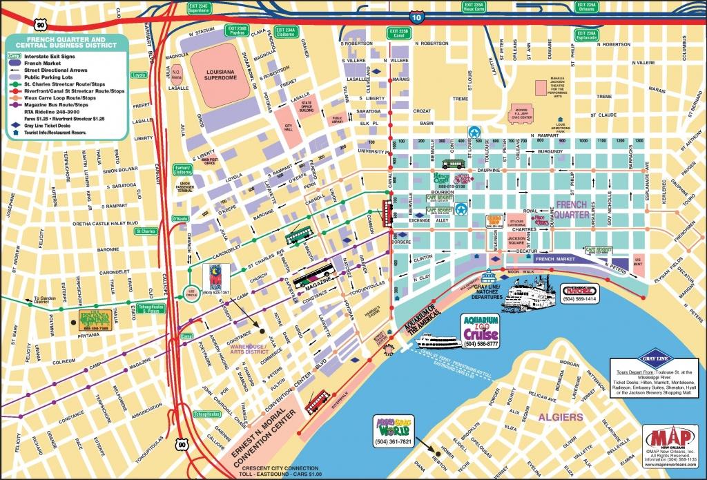New Orleans French Quarter Tourist Map - Us Quarter Map Printable