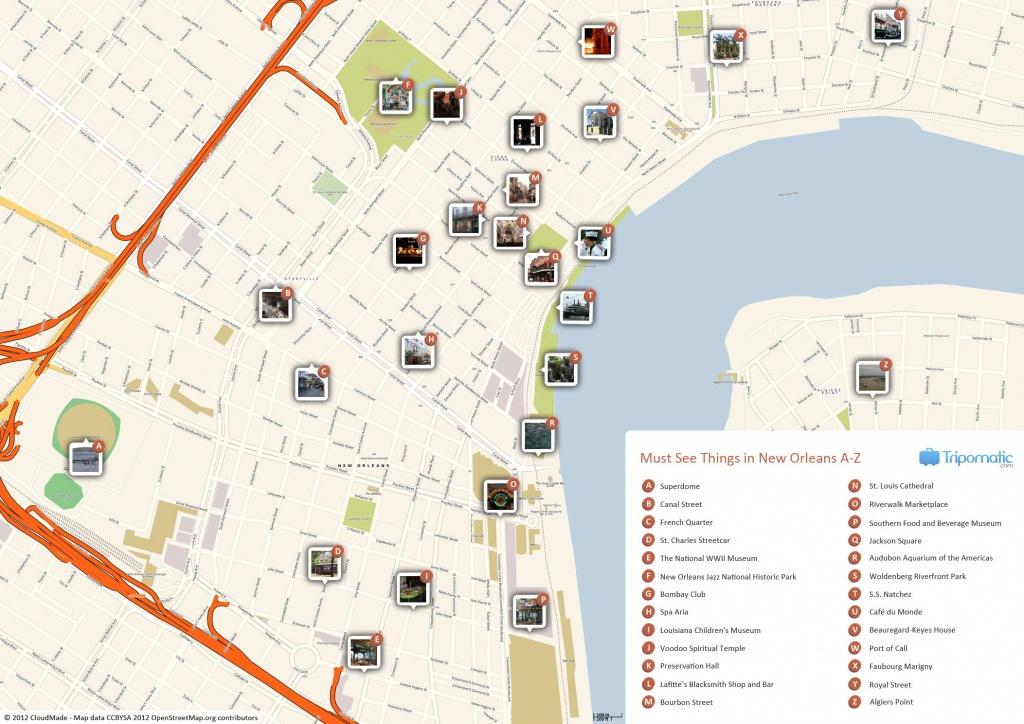 New Orleans Printable Tourist Map   Free Tourist Maps ✈   New - Printable Street Maps Free