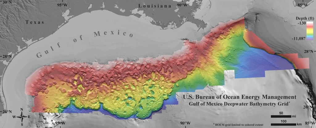 New Seafloor Map Reveals How Strange The Gulf Of Mexico Is - Top Spot Fishing Maps Texas
