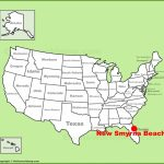 New Smyrna Beach Location On The U.s. Map   Smyrna Beach Florida Map