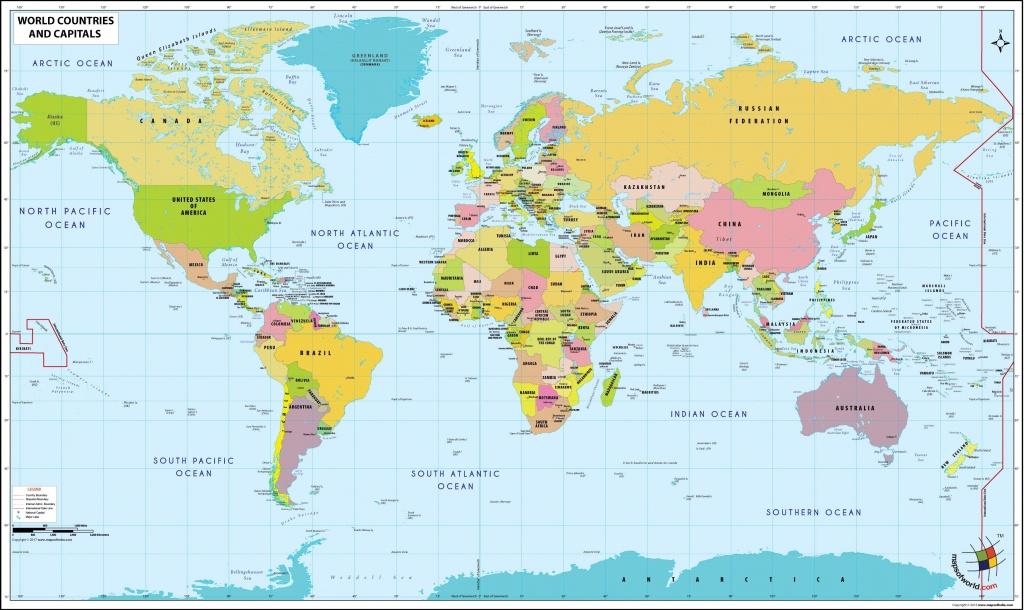 New World Map Pdf 10   Flat World Map   World Map With Countries - Printable World Map With Countries Labeled Pdf