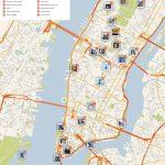 New York City Manhattan Printable Tourist Map | Sygic Travel   Printable Map Manhattan Pdf