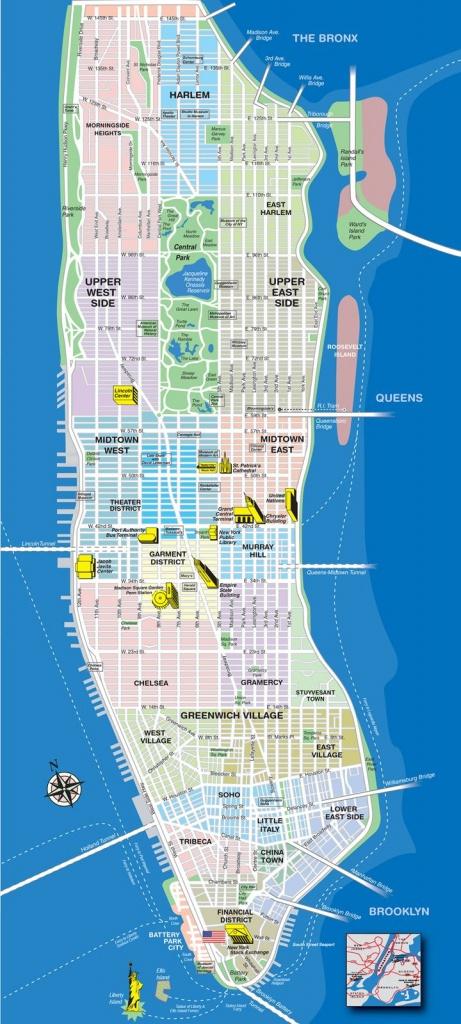 New York City Map Manhattan | Manhattan Tourist Map See Map Details - Map Of Manhattan Nyc Printable