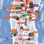 New York City Most Popular Attractions Map   Printable Map Of New York City Landmarks