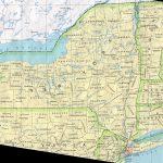 New York Printable Map   Road Map Of New York State Printable