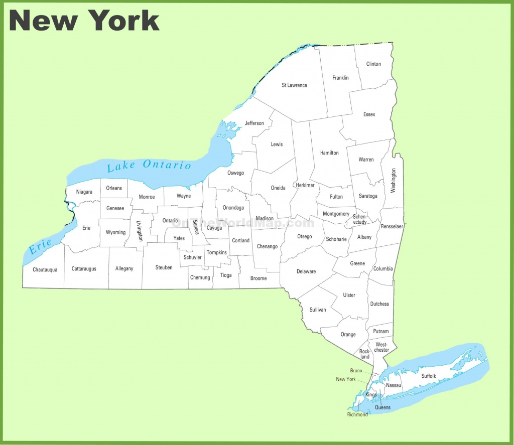 New York State Maps | Usa | Maps Of New York (Ny) - Printable Map Of New York State