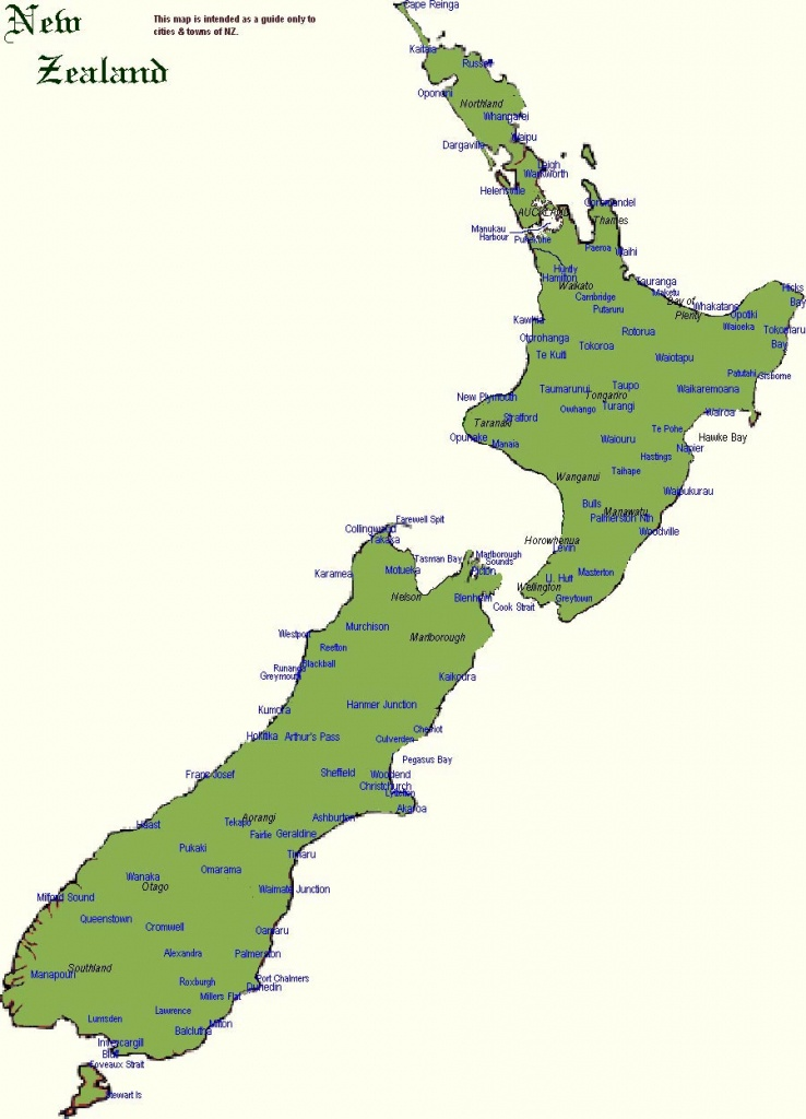 New Zealand Maps   Printable Maps Of New Zealand For Download - New Zealand South Island Map Printable