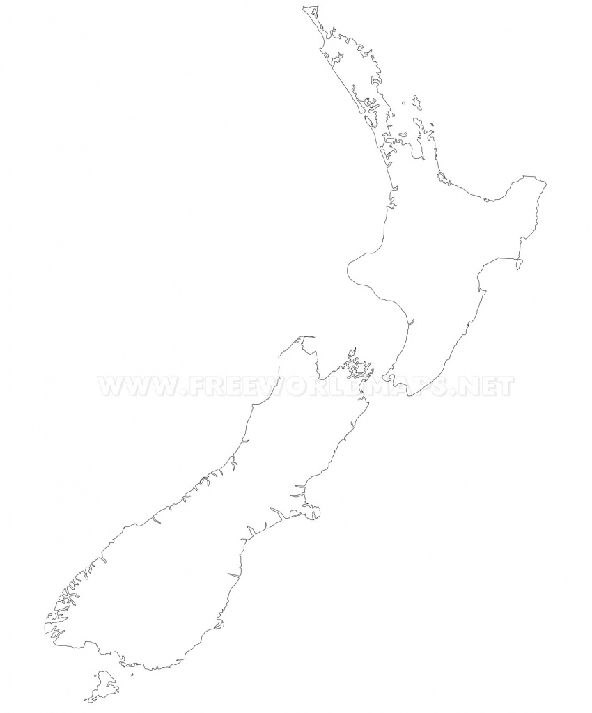 New Zealand Political Map - Outline Map Of New Zealand Printable