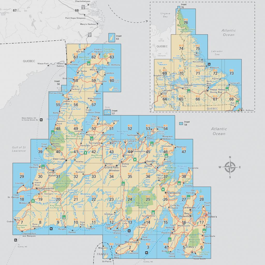 Newfoundland & Labrador (Nfld) - Printable Map Of Newfoundland
