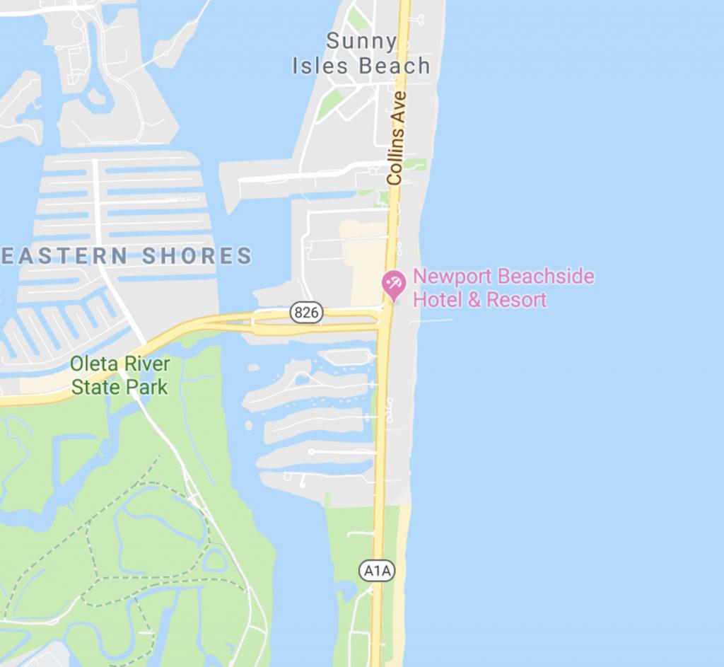 Newport Beachside Hotel & Resort | Sunny Isles, Florida - Sunny Isles Beach Florida Map