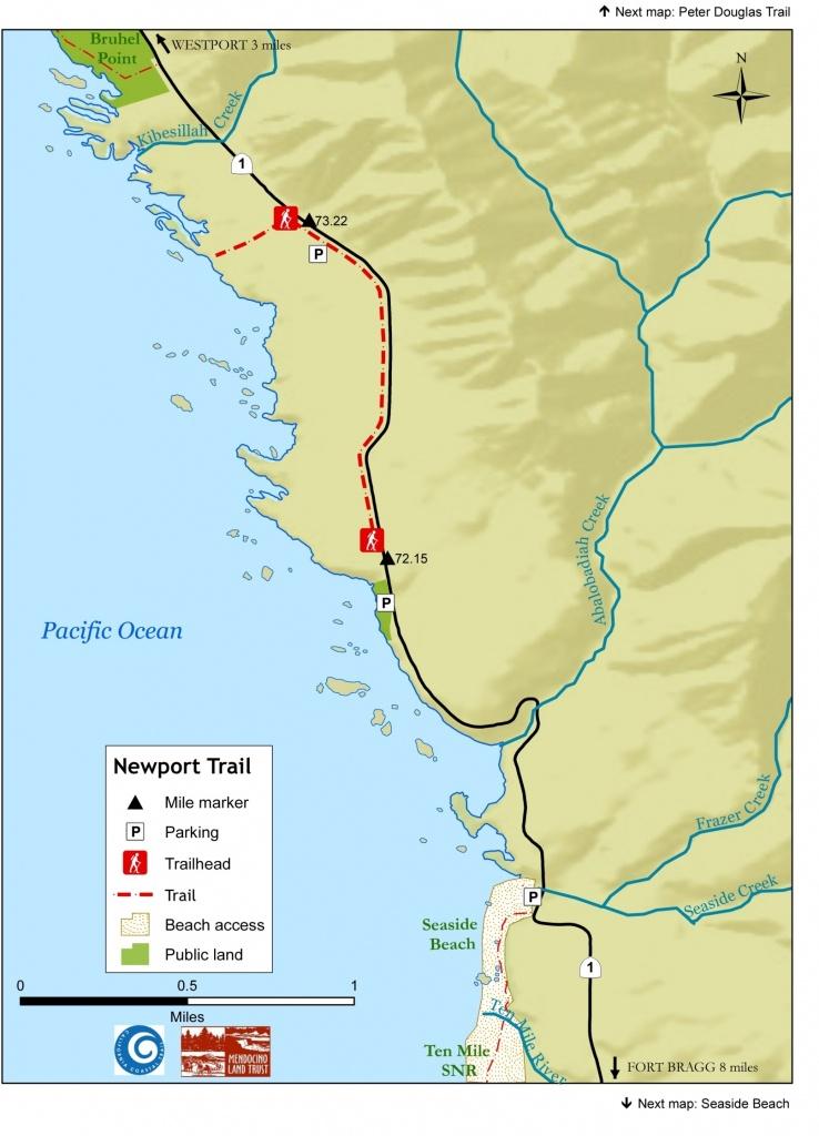 Newport Coastal Trail – Northern Coastal Trails – Mendocino Land - California Coastal Trail Map