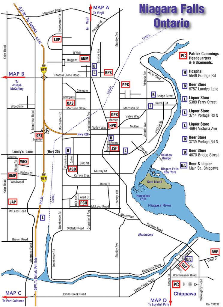 Niagara - Map Of Parks & Diamonds - Printable Map Of Niagara On The Lake