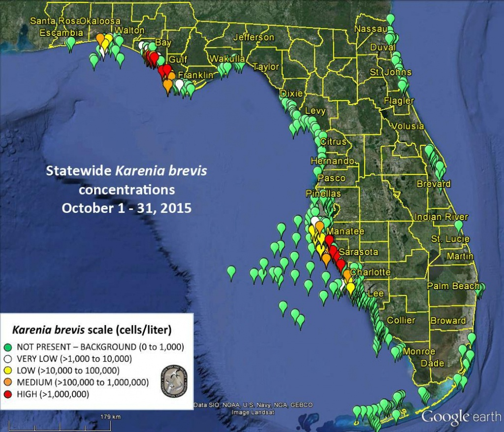 No Red Tide Bloom Offshore From Sarasota-Manatee, Fwc Says - News - Current Red Tide Map Florida