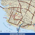 Norfolk - Downtown Map - Printable Map Of Norfolk Va