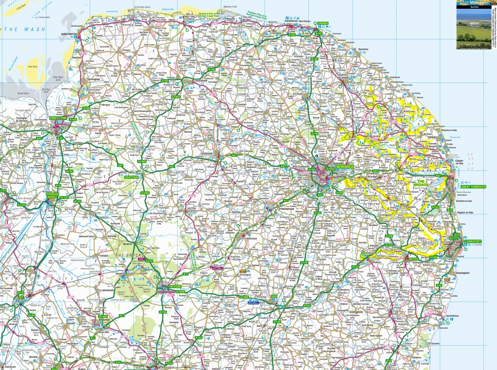 Norfolk Map - Free Download View Offline - Printable Os Maps