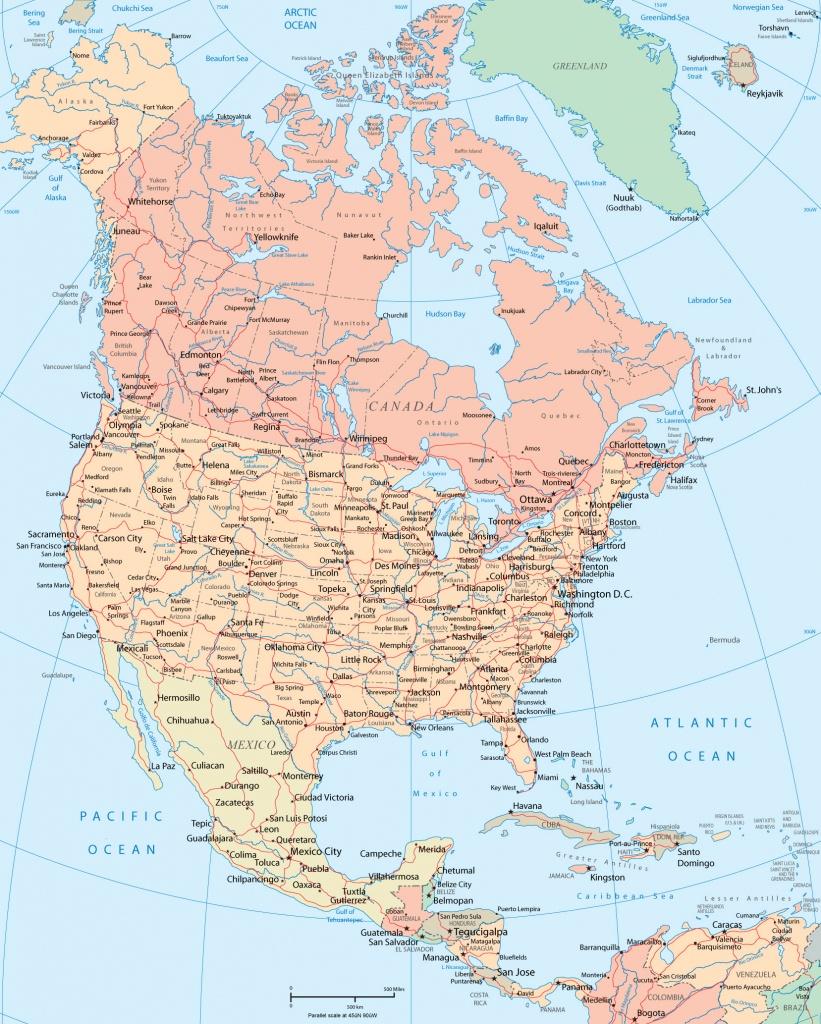 North America Map - Toronto California Map