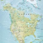 North America Physical Map   Printable Physical Map Of North America