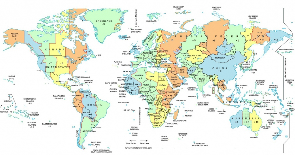 North America Time Zone Map Pdf Free Printable Map - World Time - World Time Zone Map Printable Free