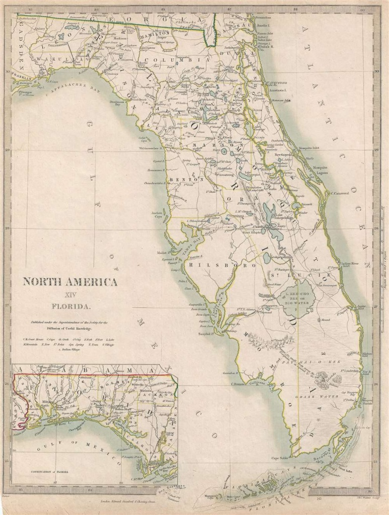 North America Xiv Florida.: Geographicus Rare Antique Maps - Florida Maps For Sale