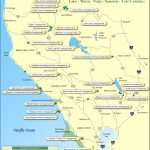North Bay Counties Campground Map   Camping Central California Coast Map