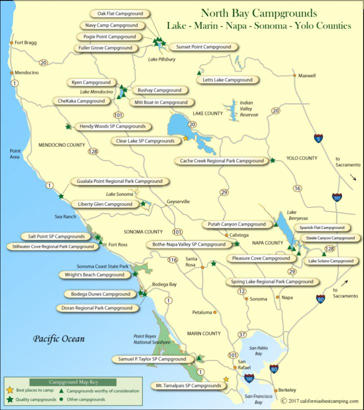 Camping Central California Coast Map