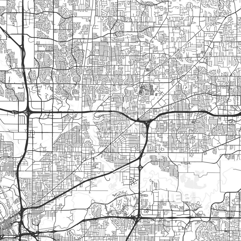 North Richland Hills, Texas - Area Map - Light - Richland Hills Texas Map