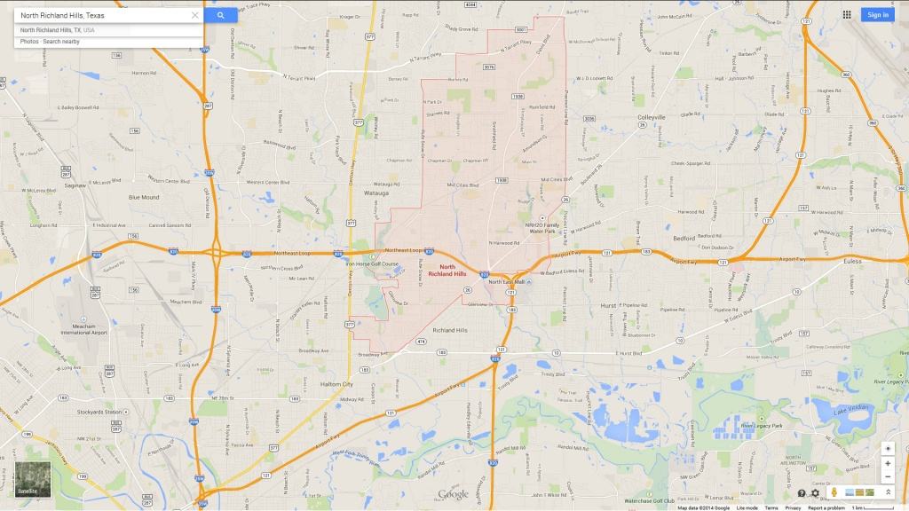 North Richland Hills Texas Map - North Richland Hills Texas Map