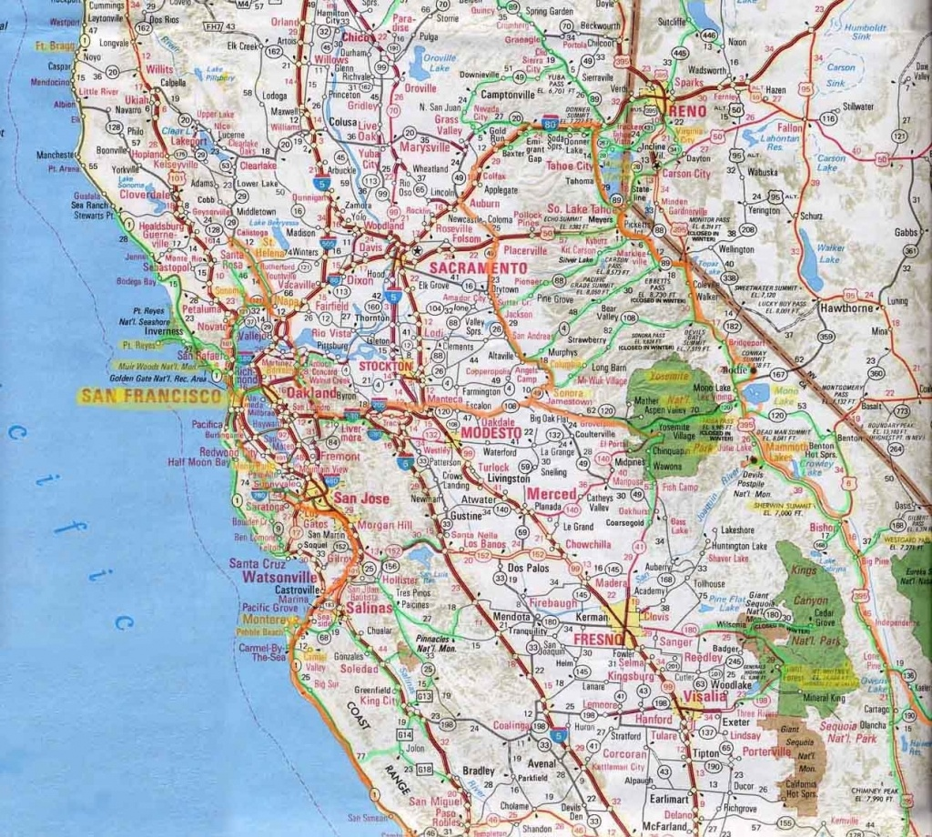 Northern Californi Highway Map Of Northern California Detail Map Of - Detailed Map Of Northern California