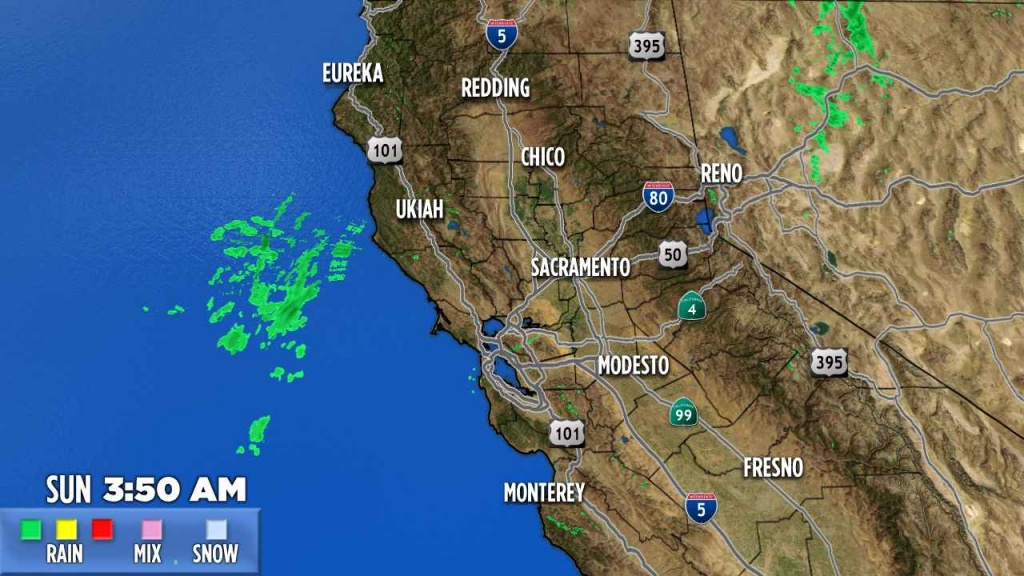 Northern California | Abc7News - Satellite Weather Map California
