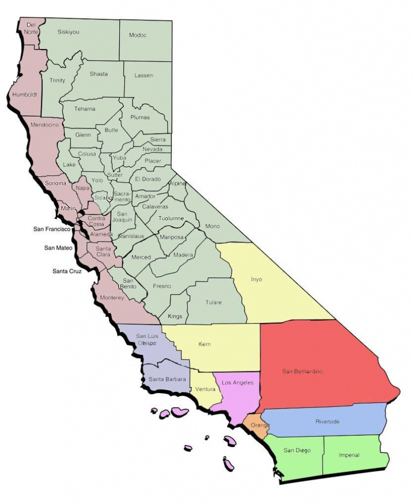 Northern California Area Code Map And Travel Information | Download - California Zip Code Map Free