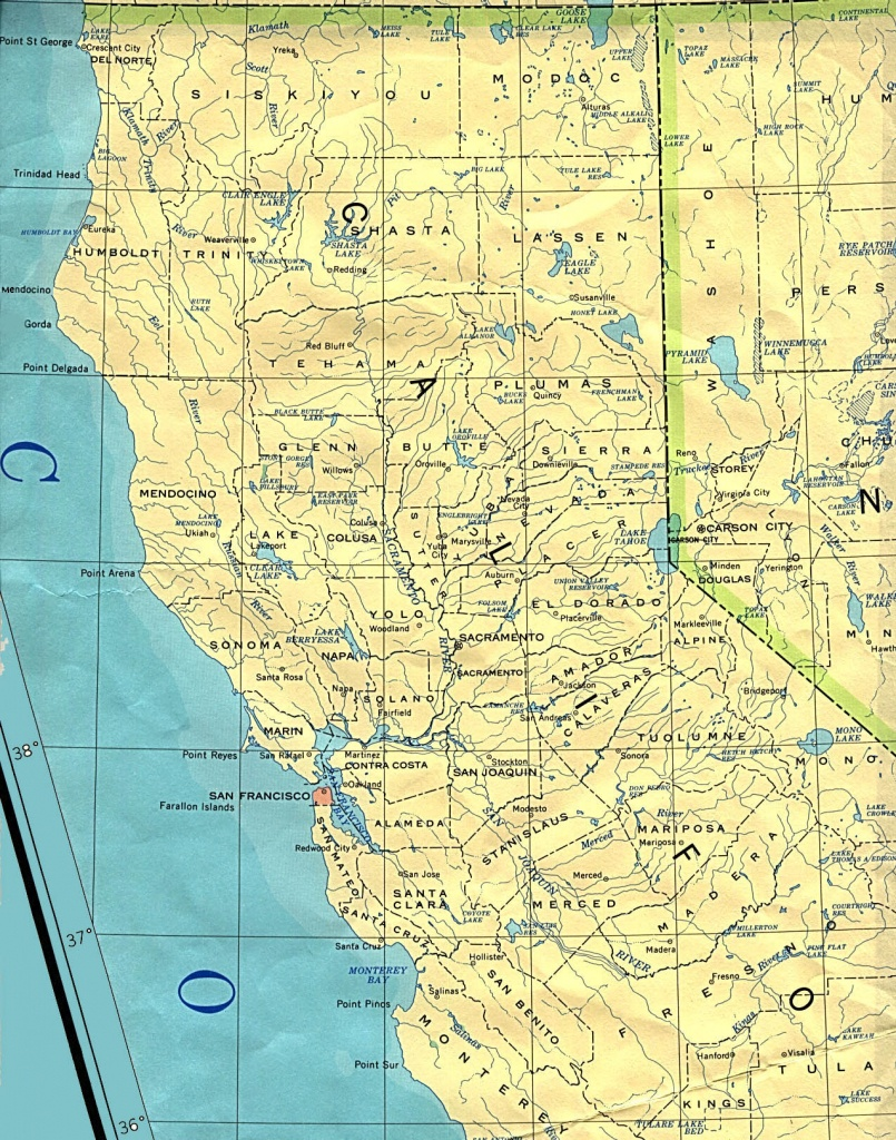Northern California Base Map - Map Of Northern California