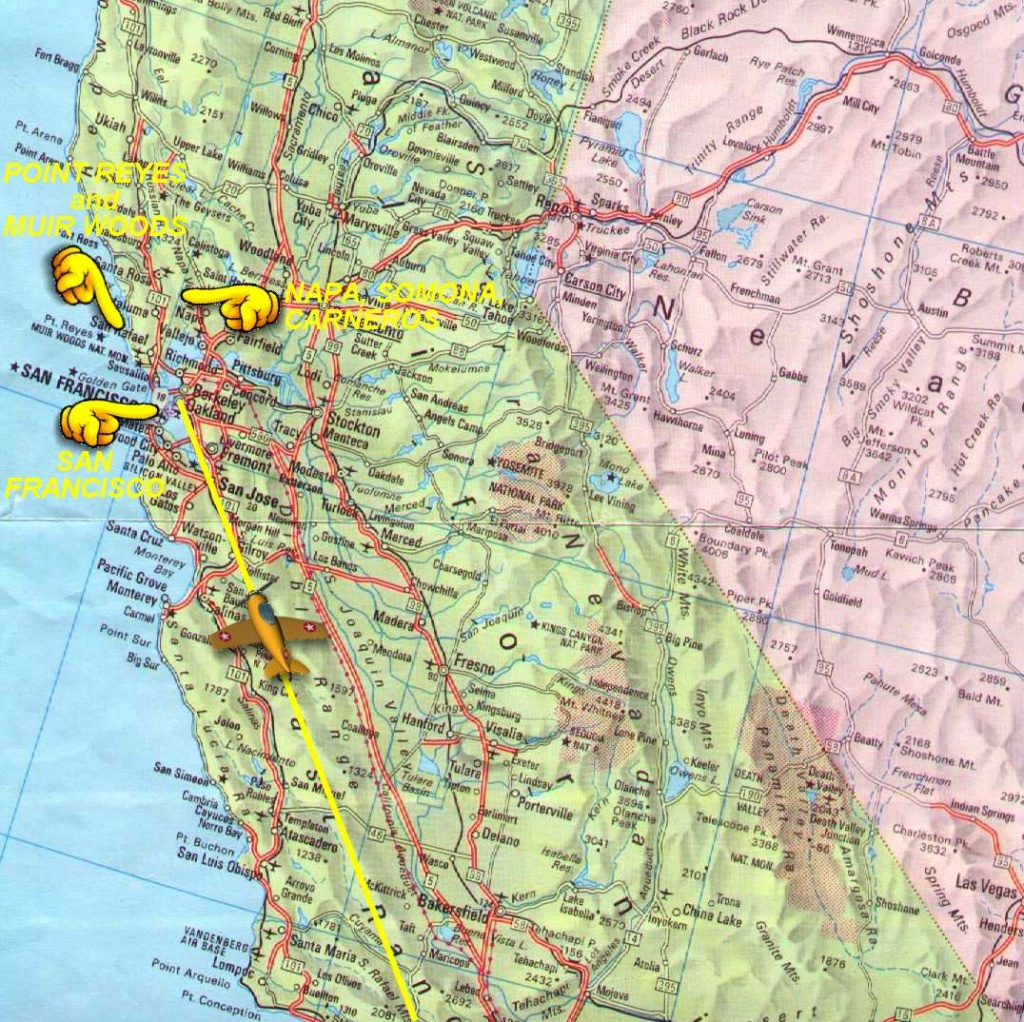 Northern California Map - Detailed Map Of Northern California
