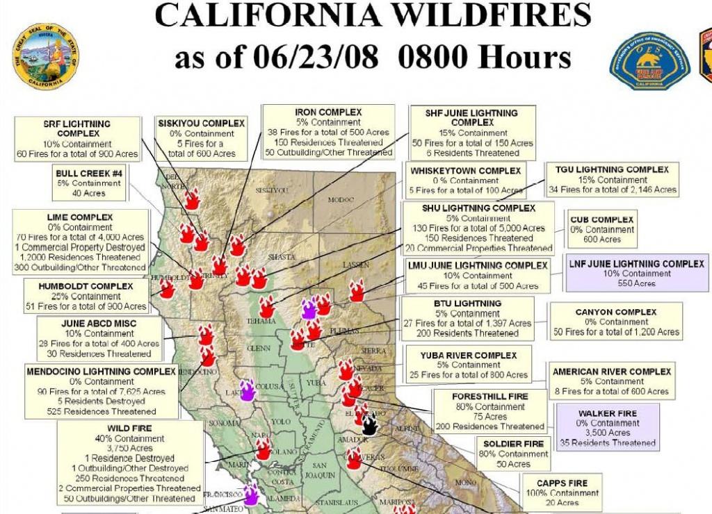 Northern California Wildfire Map | Highboldtage - California Wildfire Map