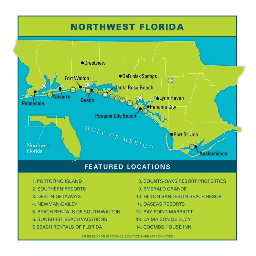 Northwest Floridavacation Guide - Vie Magazine - Northwest Florida Beaches Map