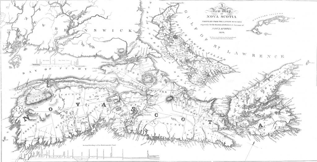 Nova Scotia Archives - Historical Maps Of Nova Scotia - Printable Map Of Nova Scotia Canada