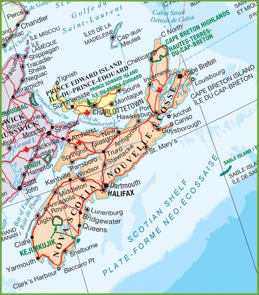 Nova Scotia National Parks Map - Printable Map Of Nova Scotia Canada