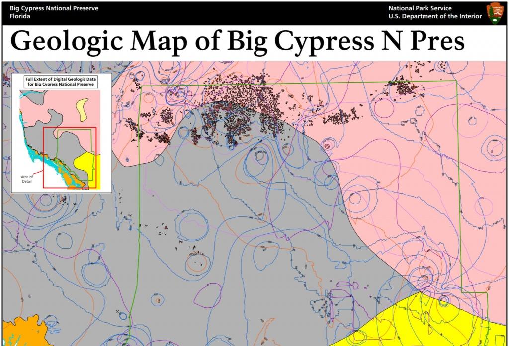 Nps Geodiversity Atlas—Big Cypress National Preserve, Florida (U.s. - Florida Geological Survey Sinkhole Map