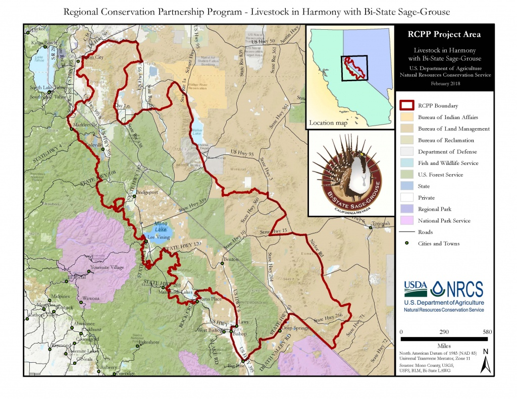 Nrcs, Partners Seek To Assist Bi-State Sage-Grouse Area Ranchers - Usda Eligibility Map California