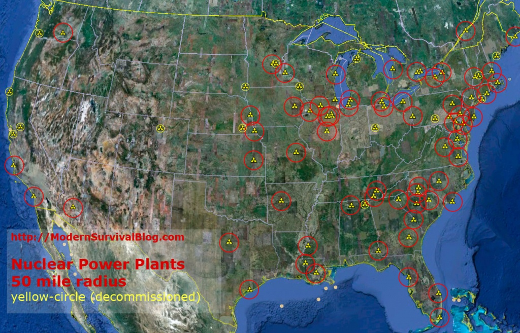 Nuclear Power Plant Meltdown - 50 Mile Radius - Nuclear Power Plants In Florida Map