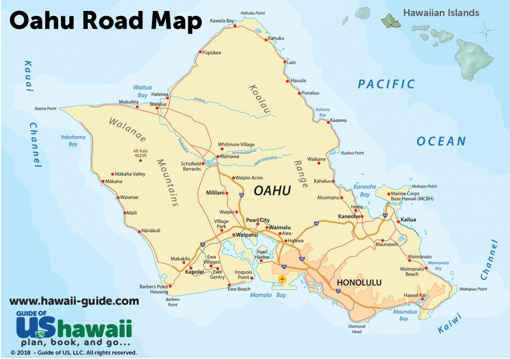 Oahu Maps - Printable Map Of Hawaii
